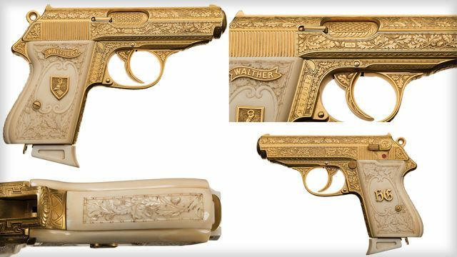 The golden gun of notorious Nazi Hermann Göring is up for auction